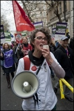 NHS workers last took naitonal action on the 30 November 2011 pensions strike, photo Paul Mattsson
