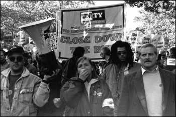 Youth Against Racism in Europe (YRE) and the Labour Party Young Socialists built a united community and trade union anti-racist campaign to drive the racists out after the murder of Stephen Lawrence, photo D. Sinclair