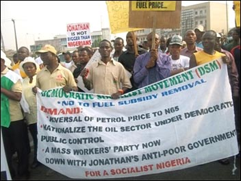 Democratic Socialist Movement (DSM) in Nigeria, sister party of the Socialist Party in the UK, , photo by DSM