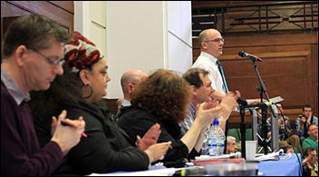 PCS left Unity meeting: Organising to step up the pensions struggle , photo by Senan
