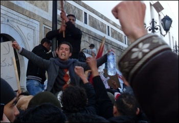 Anti-government demonstrations during the 2010–2011 Tunisian uprising, photo Creative commons