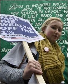 We are the 99% Take the wealth off the 1% , photo Paul Mattsson