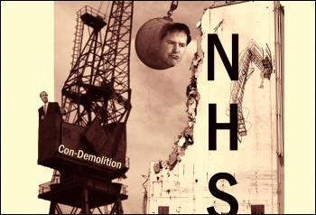 Con-Demolition of the NHS, photo by  Socialist Party