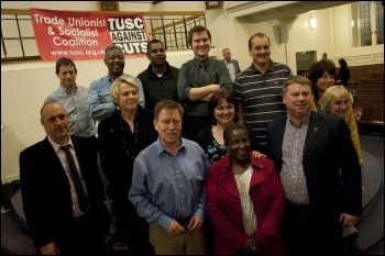 Some of the candidates on the TUSC list for the May 2012 London Assembly elections, photo by  Socialist Party