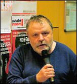Andrew Price speaking at Socialist Party congress 2008, photo Paul Mattsson