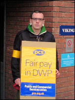 DWP members strike on 17 - 18 march 2008