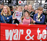 International Socialist Resistance on the 15 March 2008 anti-war demo , photo Paul Mattsson