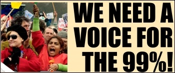 We need a voice for the 99%