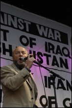 George Galloway speaking at an anti-war rally on 15.3.08, photo Paul Mattsson
