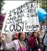 30 June coordinated strike action by the PCS civil service union and NUT, ATL and UCU teaching unions, pic Paul Mattsson