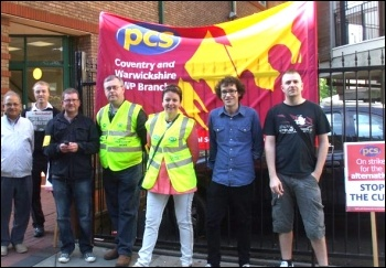 PCS on strike on 30 June 2011 in Coventry, photo by Coventry Socialist Party