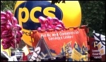 PCS on the 30 June public sector strike supported by the NUT and UCU, photo  Socialist Party