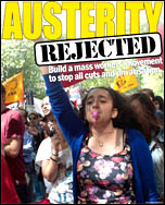 Austerity rejected, photo Paul Mattsson