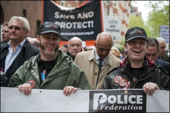 35,000 off-duty police demonstrate against privatisation and cuts 10 May 2012, photo Paul Mattsson