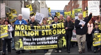 Mass boycott of the household tax in Ireland, photo by  Socialist Party Ireland