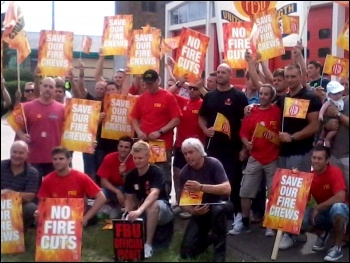 Essex FBU strike back at bullyboy management, photo by Dave Murray