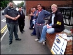 Jobcentre call centre workers picketing in Lincoln, 13.8.12, photo Nick Parker