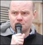 Steve Hedley, RMT assistant general secretary , photo Suzanne Beishon