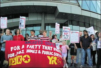 Protest against the BNP after the Greater London Assembly elections, photo Sarah Mayo
