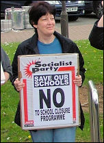 Cardiff school demo in 2006, photo Socialist Party Wales